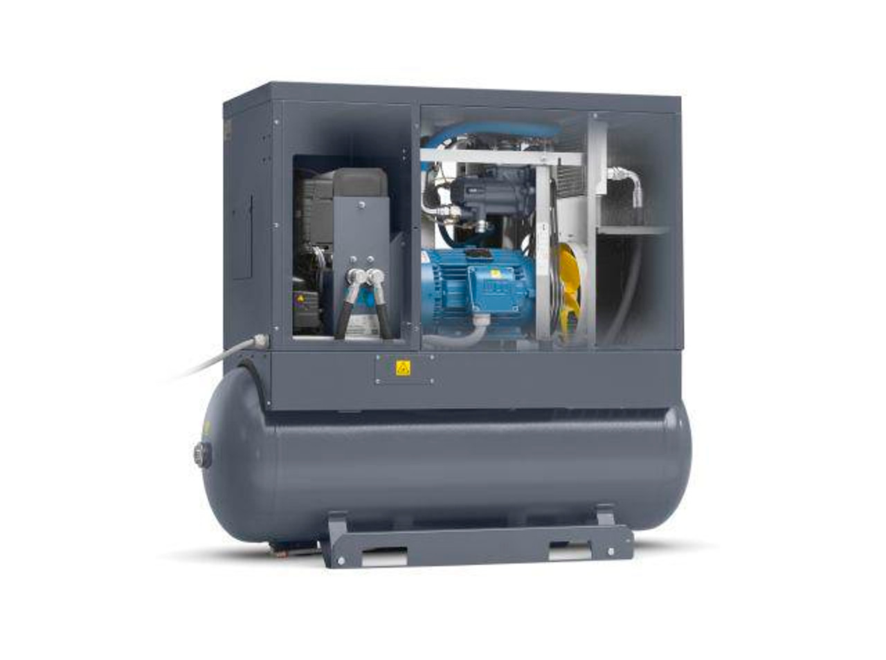 Screw Air Compressor, 25HP, 92.1CFM, 145PSI, Tank Mounted