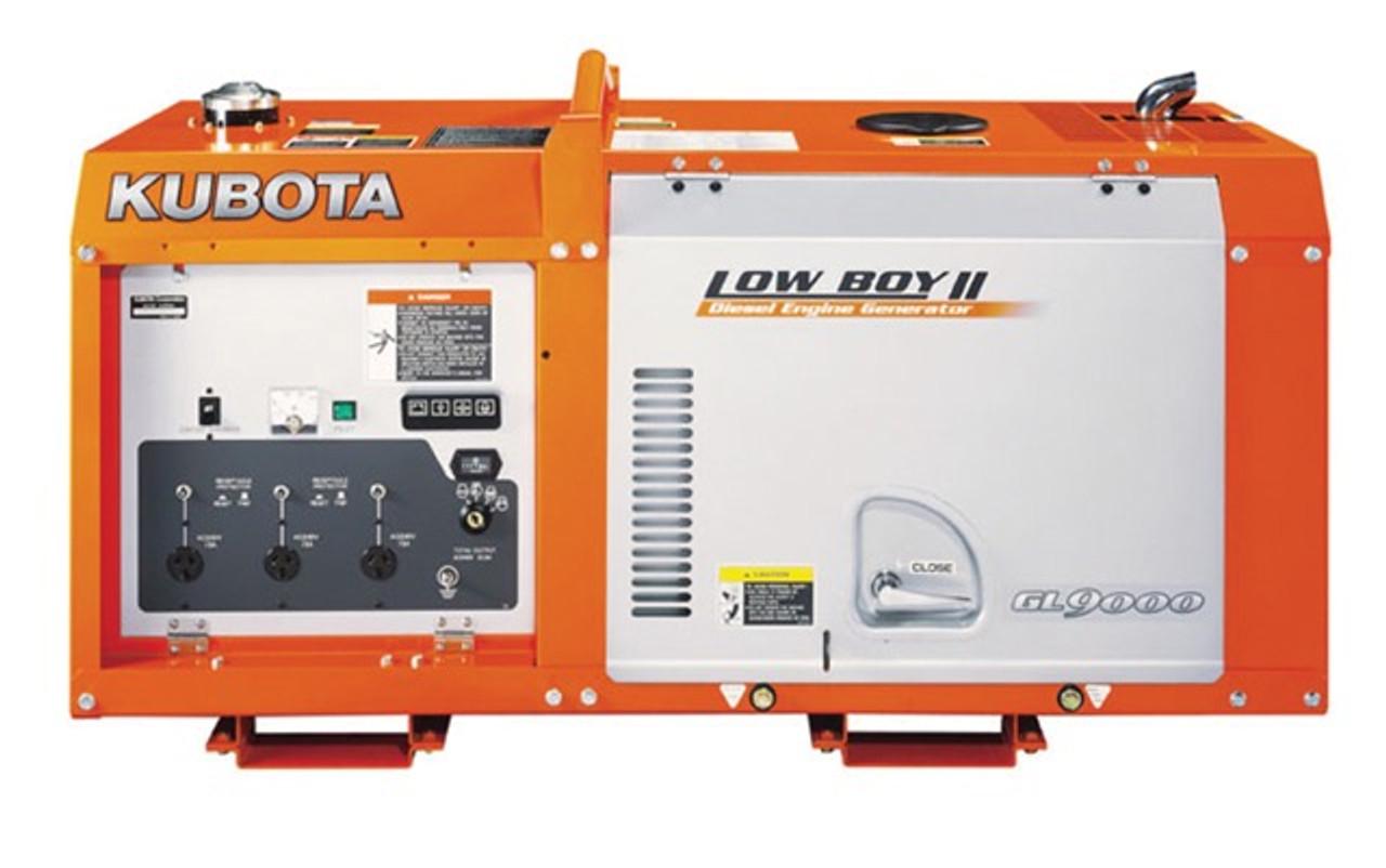 9KVA Kubota Lowboy Diesel Generator GL9000