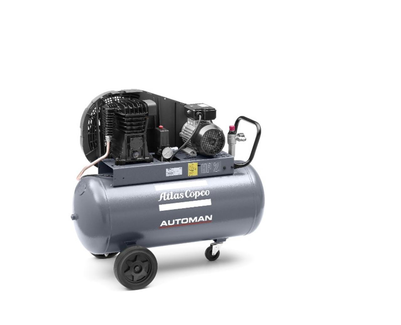 Atlas Copco Piston Air Compressor 4HP, 16.3CFM- AT40E100T