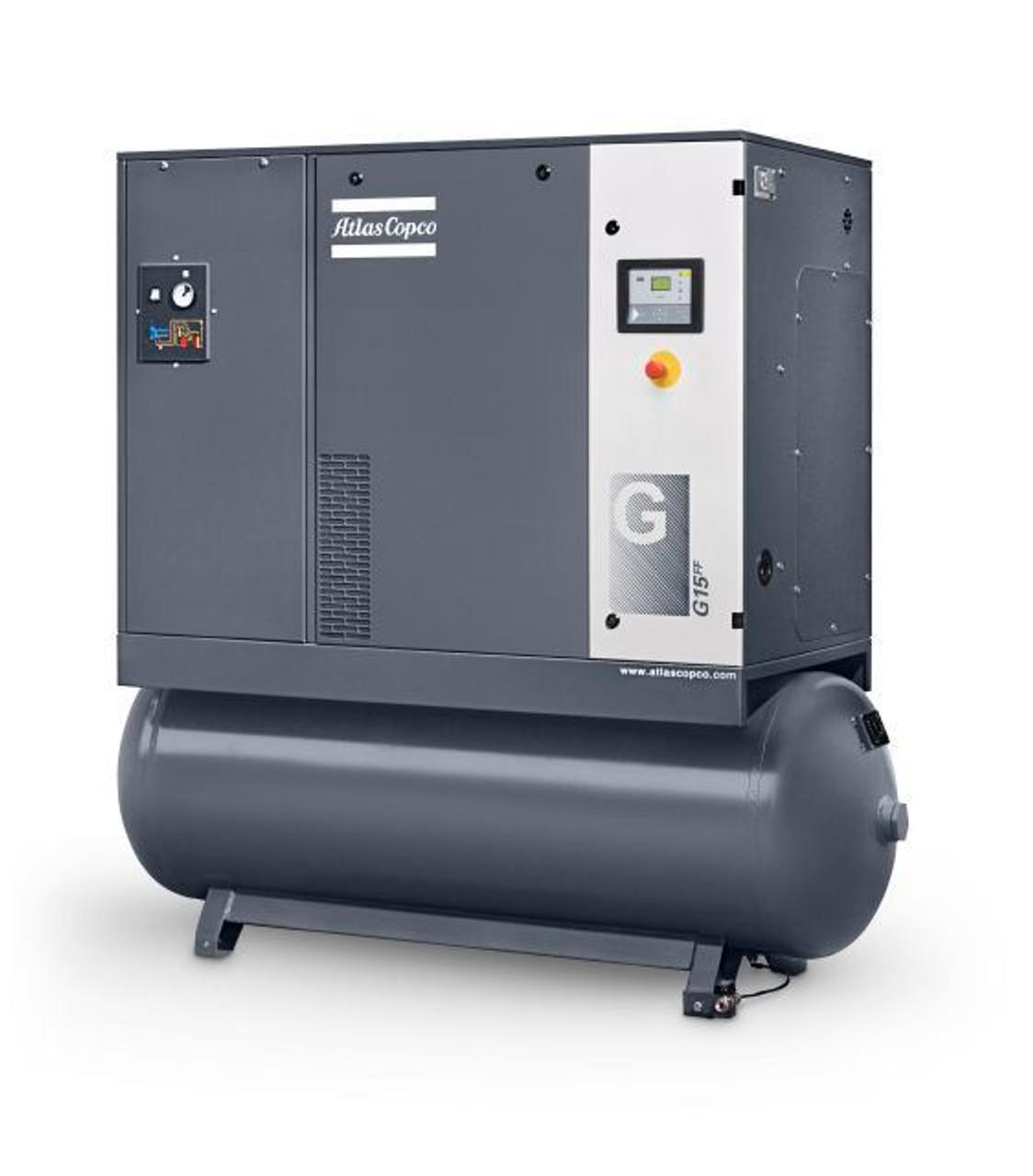 Atlas copco screw air compressor with tank