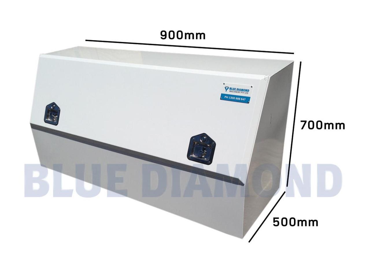 White Power Coated Steel Half Door Tool Box