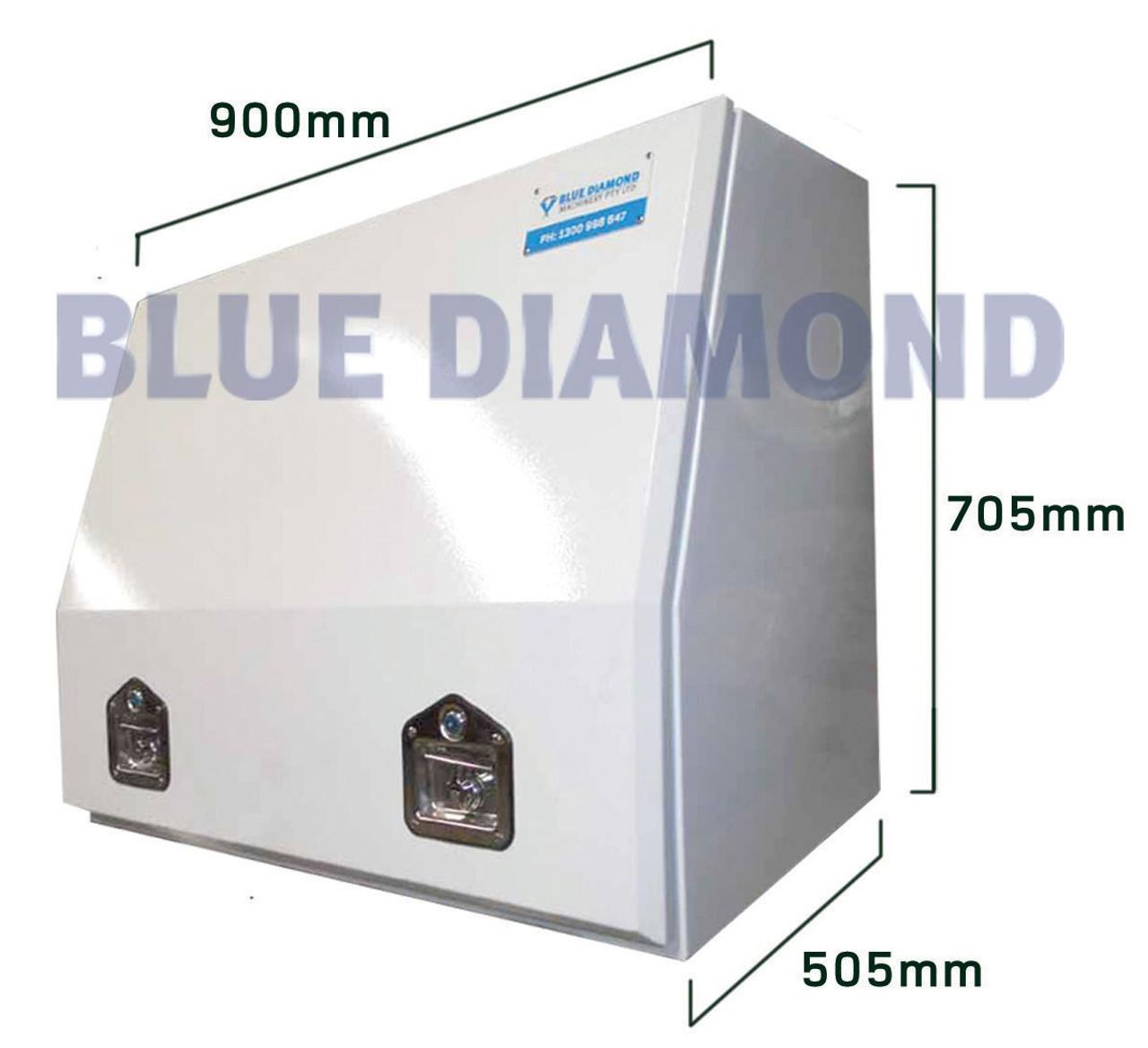 White Power Coated Steel Tool Box- Full Door
