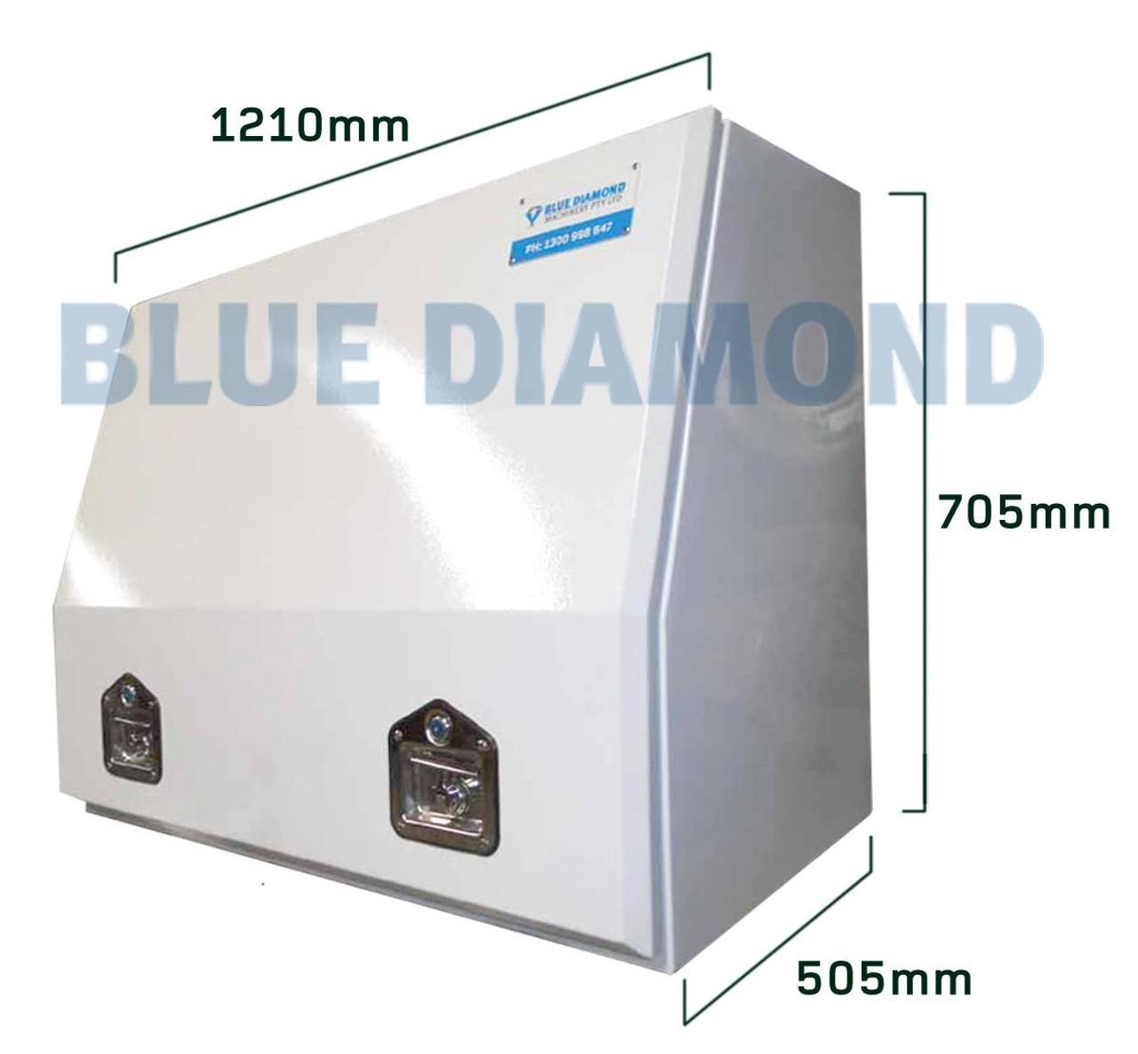 White Power Coated Steel Tool Box Width 1220mm
