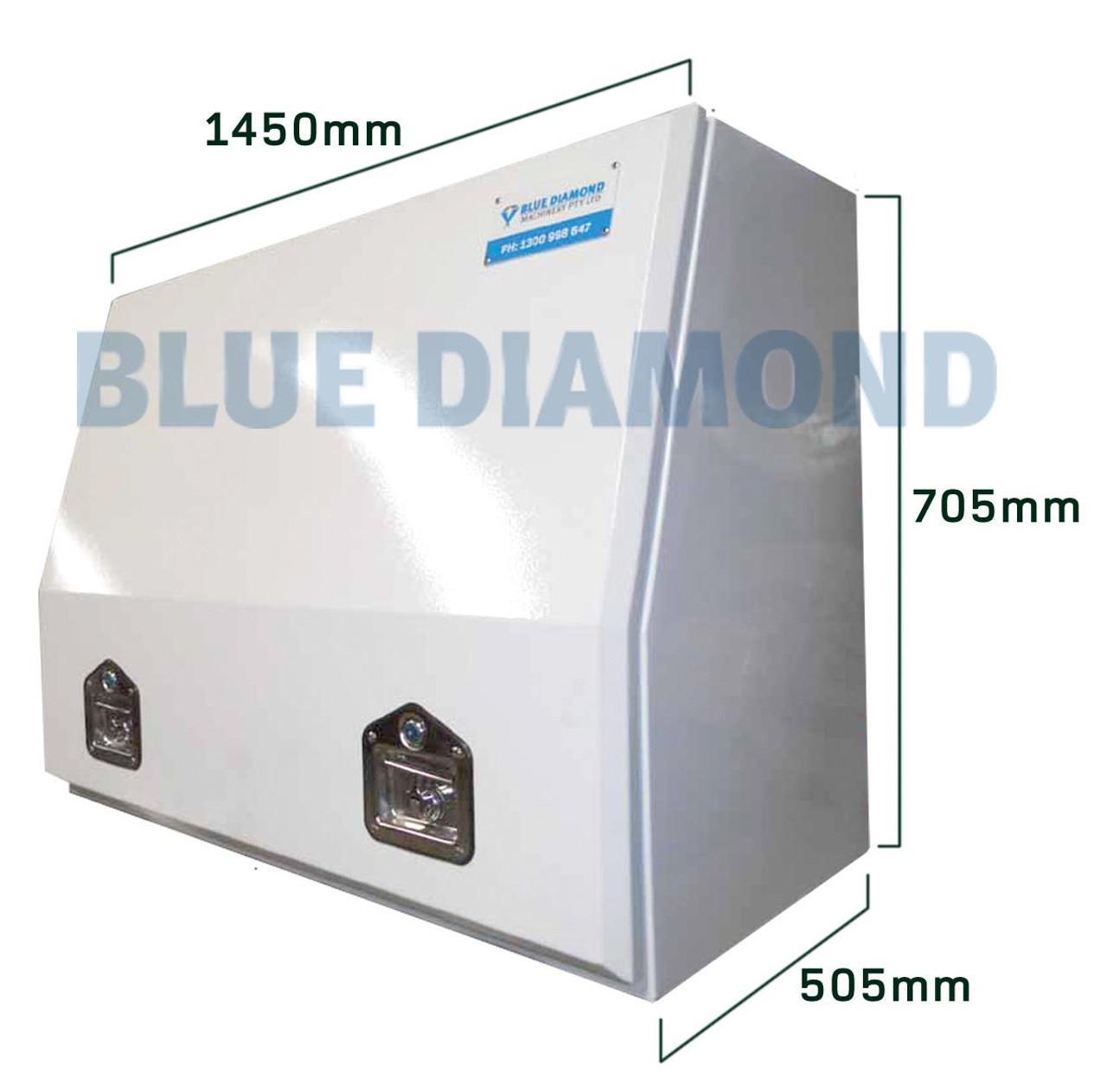 White Power Coated Steel Tool Box - Full Height Door