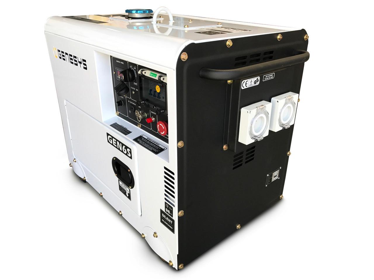 Silent Diesel Generator- Silenced Canopy.