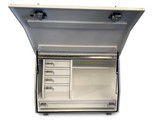 White Steel Mine Series Tool Box with Drawers- W1200