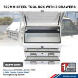 Steel Tool Box 2 Drawers W700- Ute & Truck