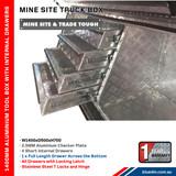 Tool Box Full Door 4 Drawers Aluminium- Ute & Truck