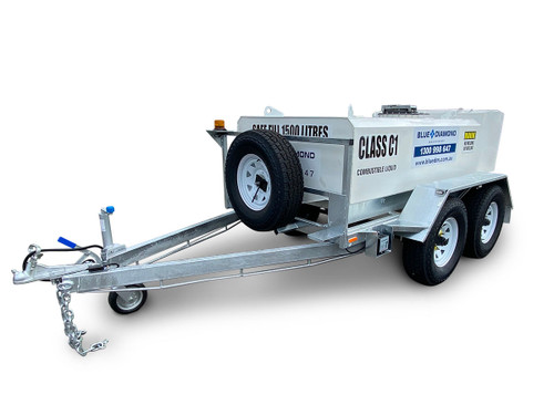 1500L Portable Self Bunded Diesel Trailer