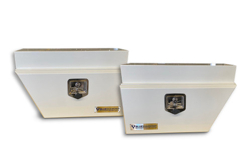 Underbody White Steel Tool Box Combo- RHS & LHS