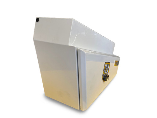 Underbody Steel Tapered Tool Box White LHS