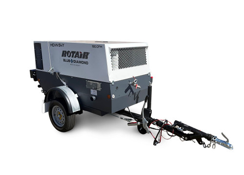 Portable Compressor 47HP 190CFM - ROTAIR MDVN 54Y