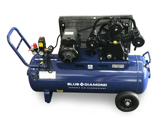 Piston Air Compressor- Electric 3HP 18 CFM 100L - 125 PSI