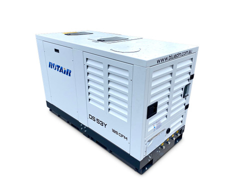 Portable Silent Box Compressor 48HP 185CFM - ROTAIR DS 53 Y