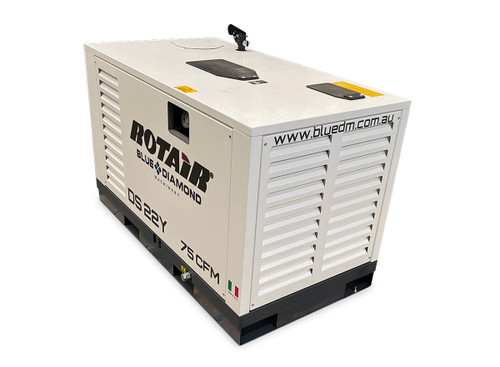 Portable Silent Box Compressor 23 HP 75CFM Rotair DS 22Y BS - After Cooler