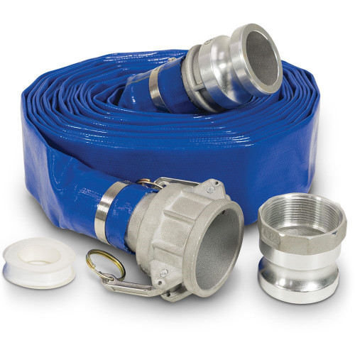 "LAYFLAT WATER PUMP DISCHARGE HOSE - BLUE SUNNY - 1.5"""