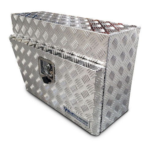 underbody aluminium checker plate tool box for UTE- Right Hand Side