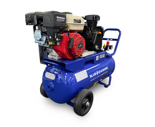 Piston Air Compressor- Petrol 6.5HP 18 CFM 70L - 145 PSI