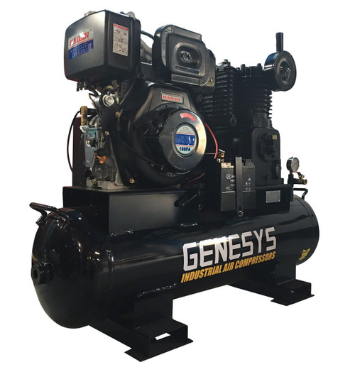 Piston Air Compressor- Diesel, 11HP, 20 CFM