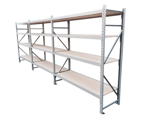 Long Span Shelving 2M H X 600mm D X 5.4M Wide (4 Levels)