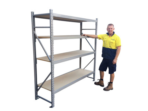 long span shelving 4 shelves- 2m x 600mm x 1.8m