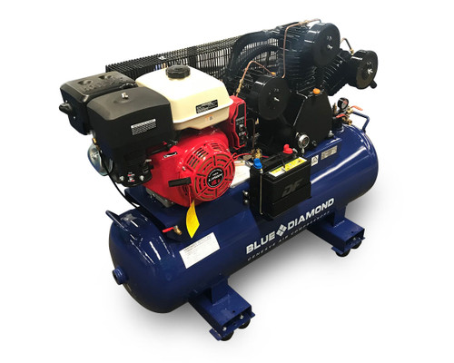 Piston Air Compressor- Petrol 15HP 42 CFM 160L 145 PSI