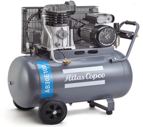 Atlas Copco Piston Air Compressor - 3HP, 10.8CFM, 100L