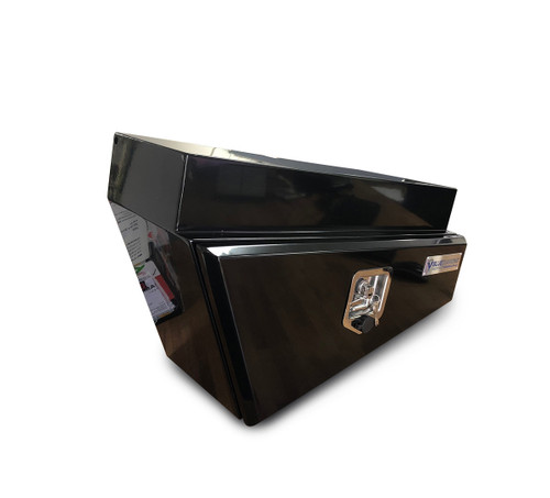 Underbody Steel Tapered Tool Box Black LHS