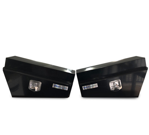 Underbody Steel Black Tapered Tool Box Combo - RHS & LHS