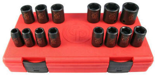 "Chicago Pneumatic - Socket - 1/2"" Set - 14-PCE Standard"