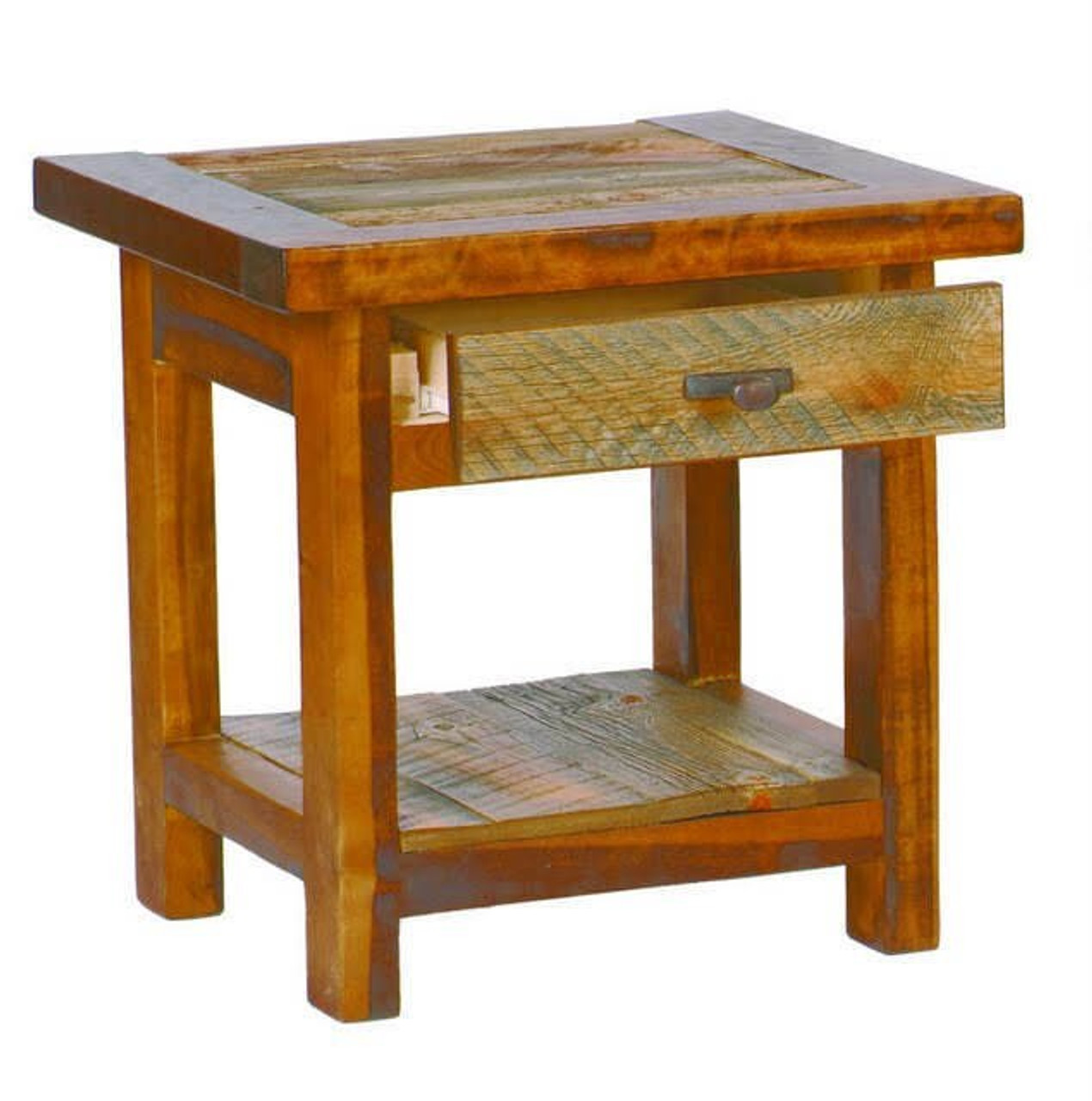 Incredible Rustic Tables Reclaimed Wood End Table With Drawer Barnwood Interior Design Ideas Gentotryabchikinfo