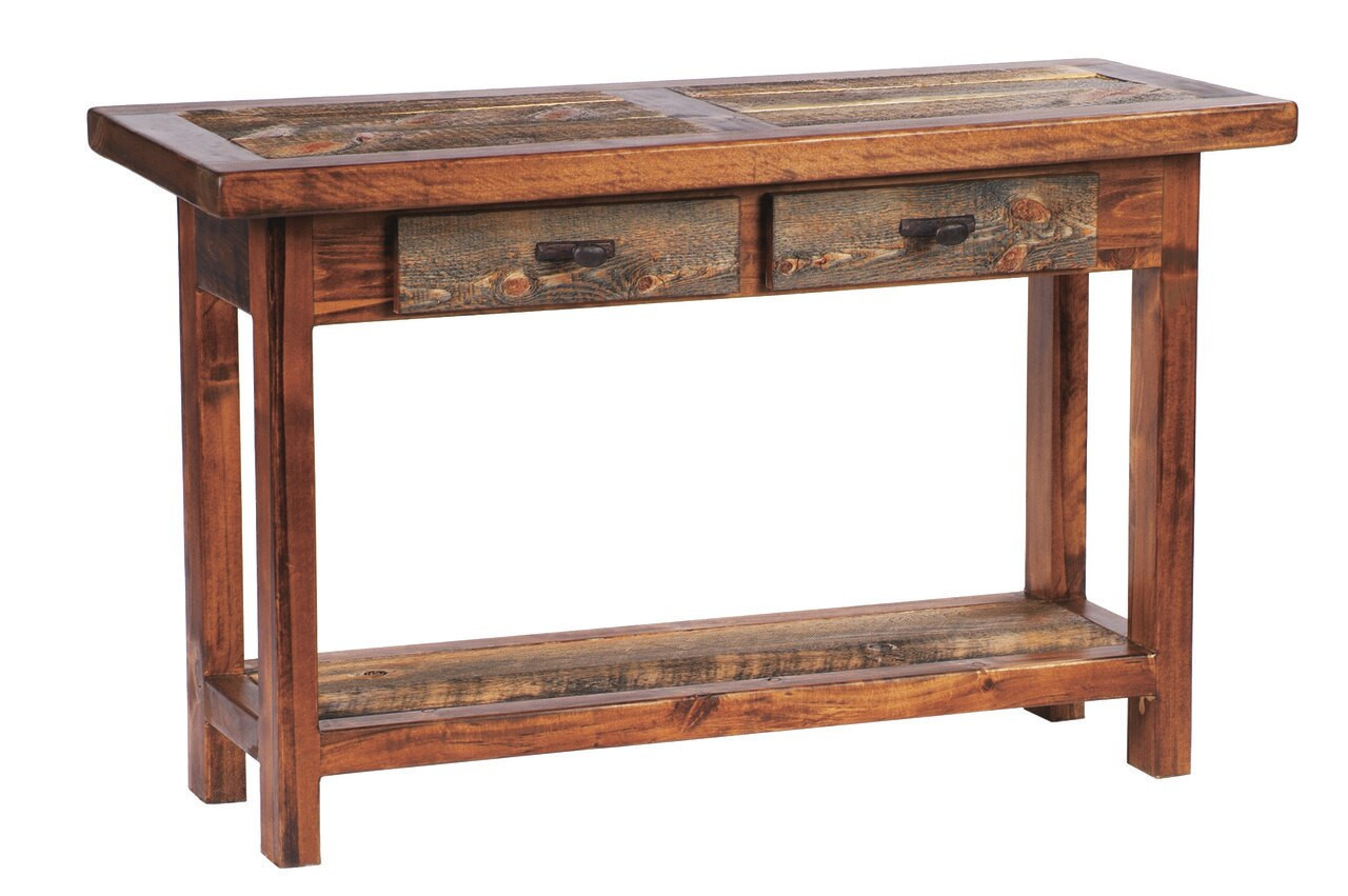 Marvelous Rustic Reclaimed Wood Sofa Table With Drawers Squirreltailoven Fun Painted Chair Ideas Images Squirreltailovenorg