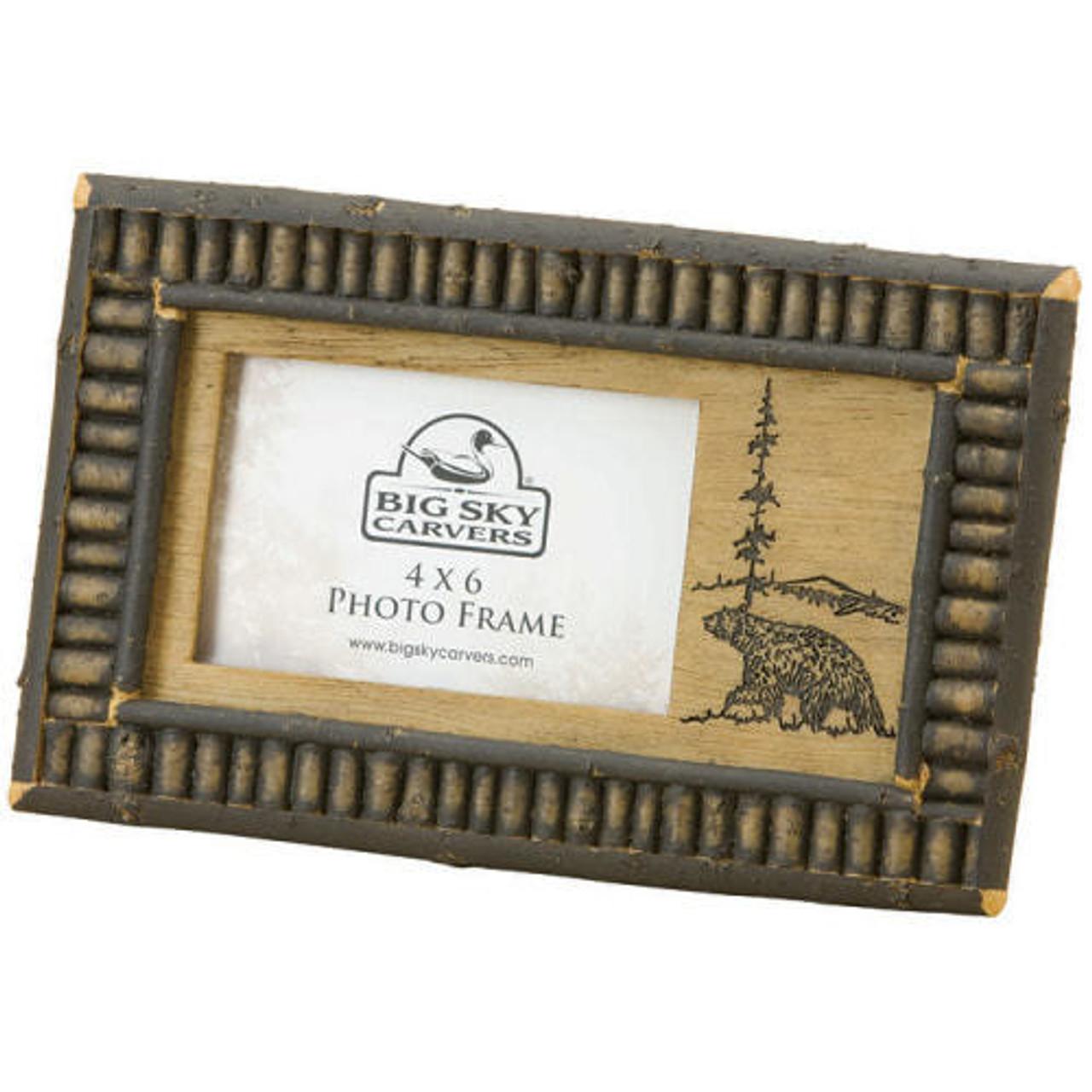Rustic Frames | Black Bear Twig 4x6 Frame