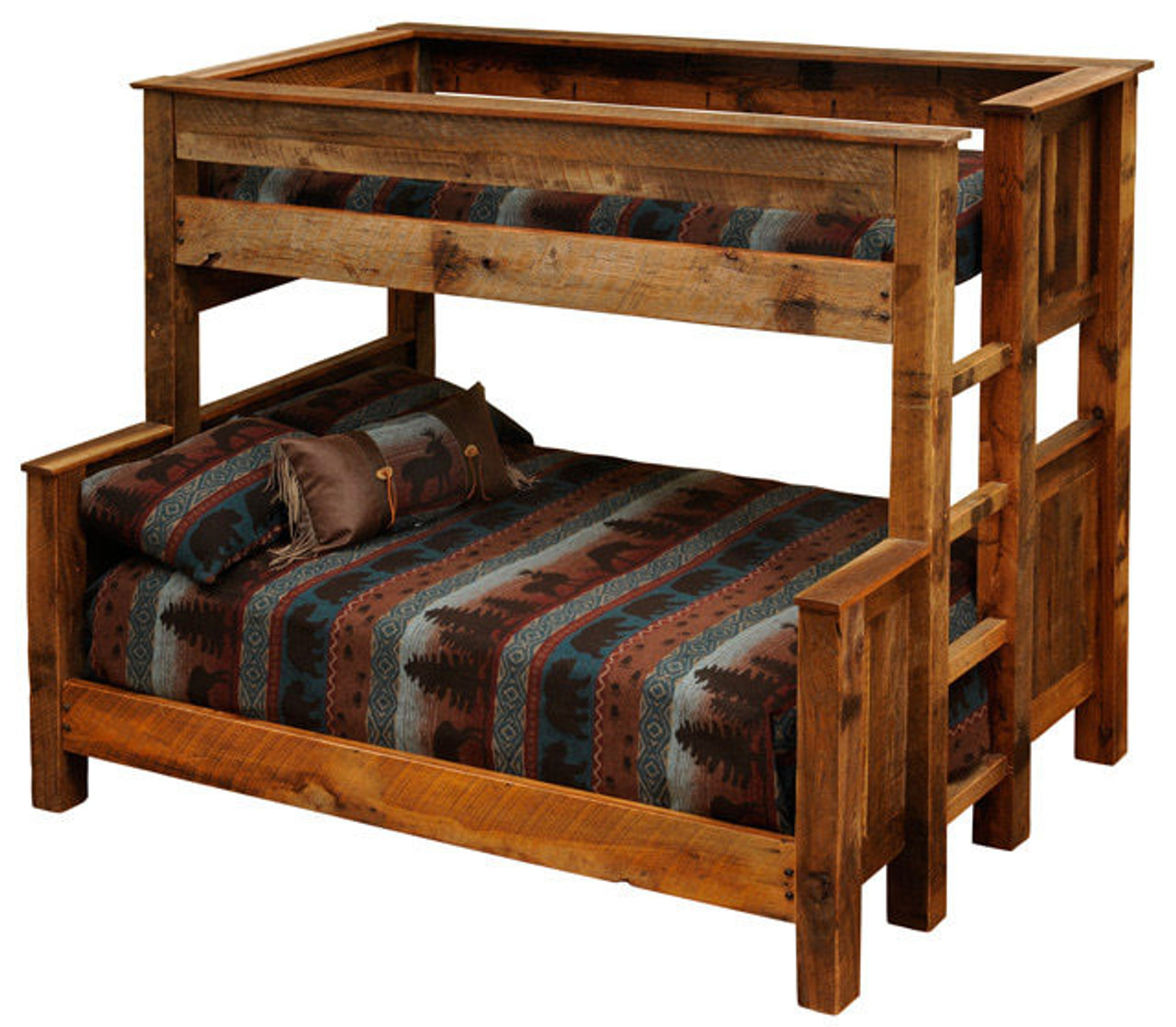 Fireside Lodge Twin Over Full Reclaimed Wood Bunk Bed