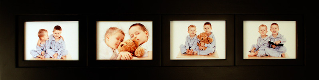 Collage Picture Frames 4 Opening 4x6 Black Wood Frame