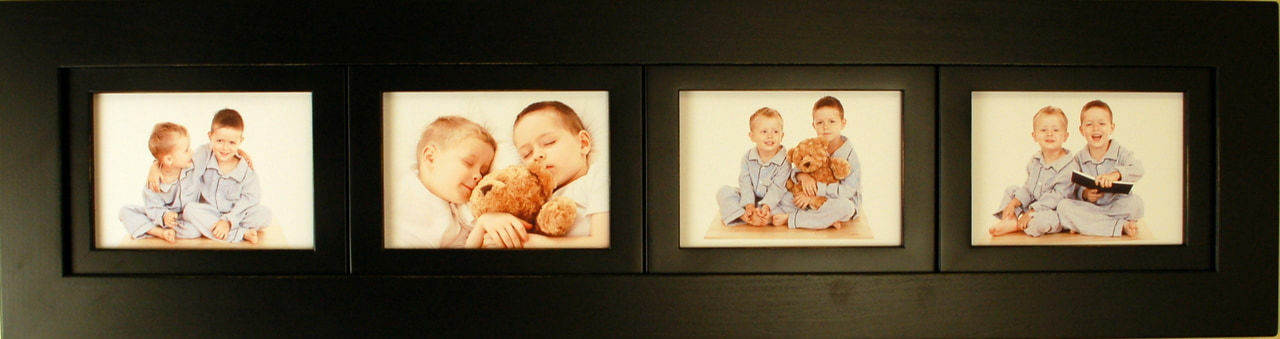 Collage Picture Frames 4 Opening 5x7 Black Wood Frame