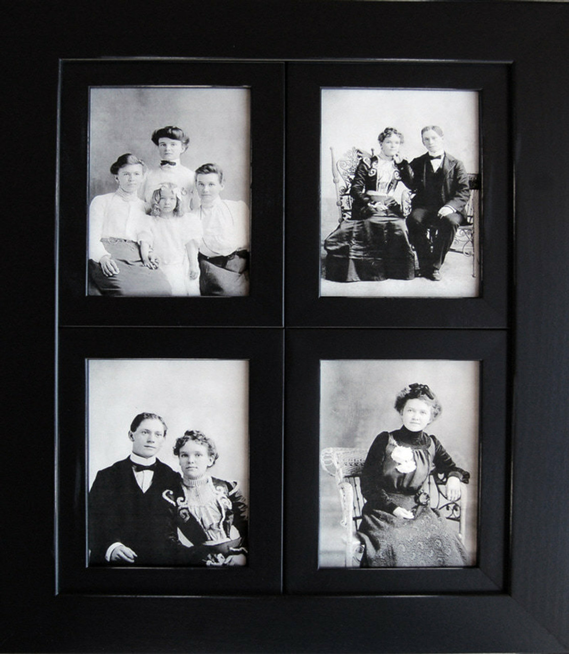 Window Pane Collage Frame 8x10 Openings Black Distressed
