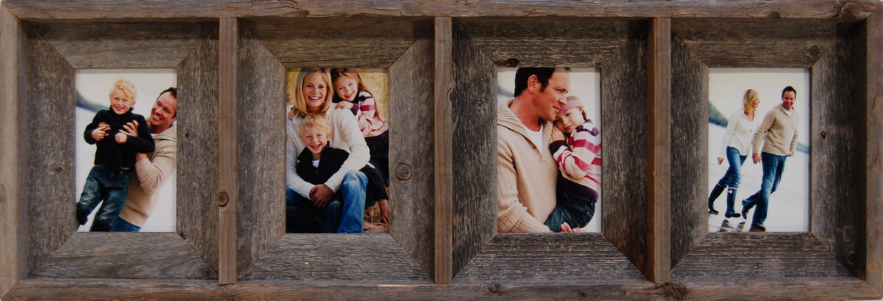 Collage Picture Frames 4 Opening Barnwood Frame 4x6