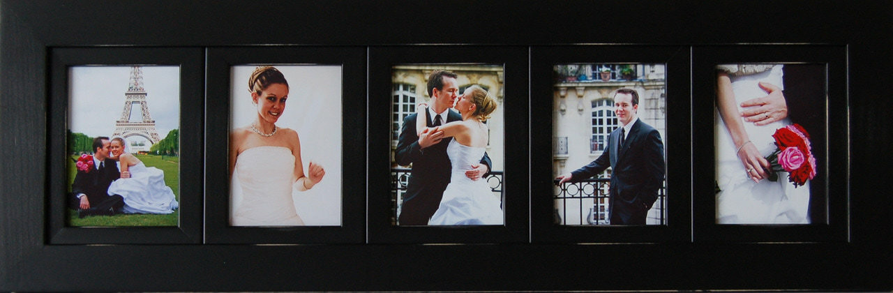 Collage Picture Frames 5x7 Frame With 5 Openings Black Wood