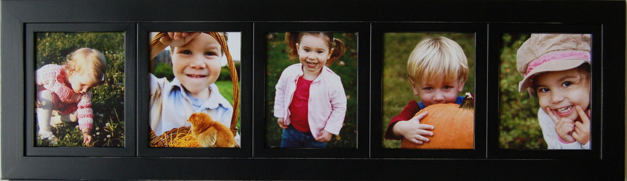 Collage Picture Frames 8x10 Frame With 5 Openings Black Wood