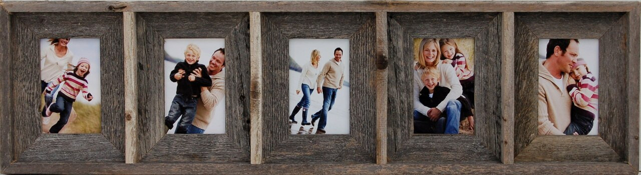 Rustic Collage Picture Frame Five 4x6 Openings