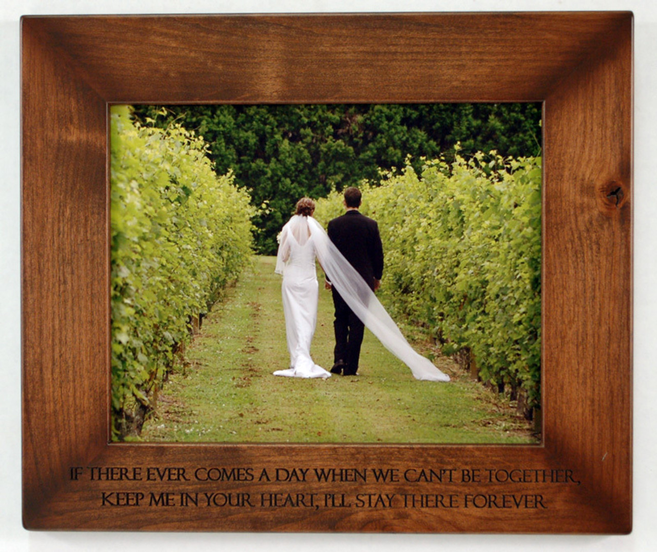 8x10 Engraved Wood Frame Personalize With Your Own Quote