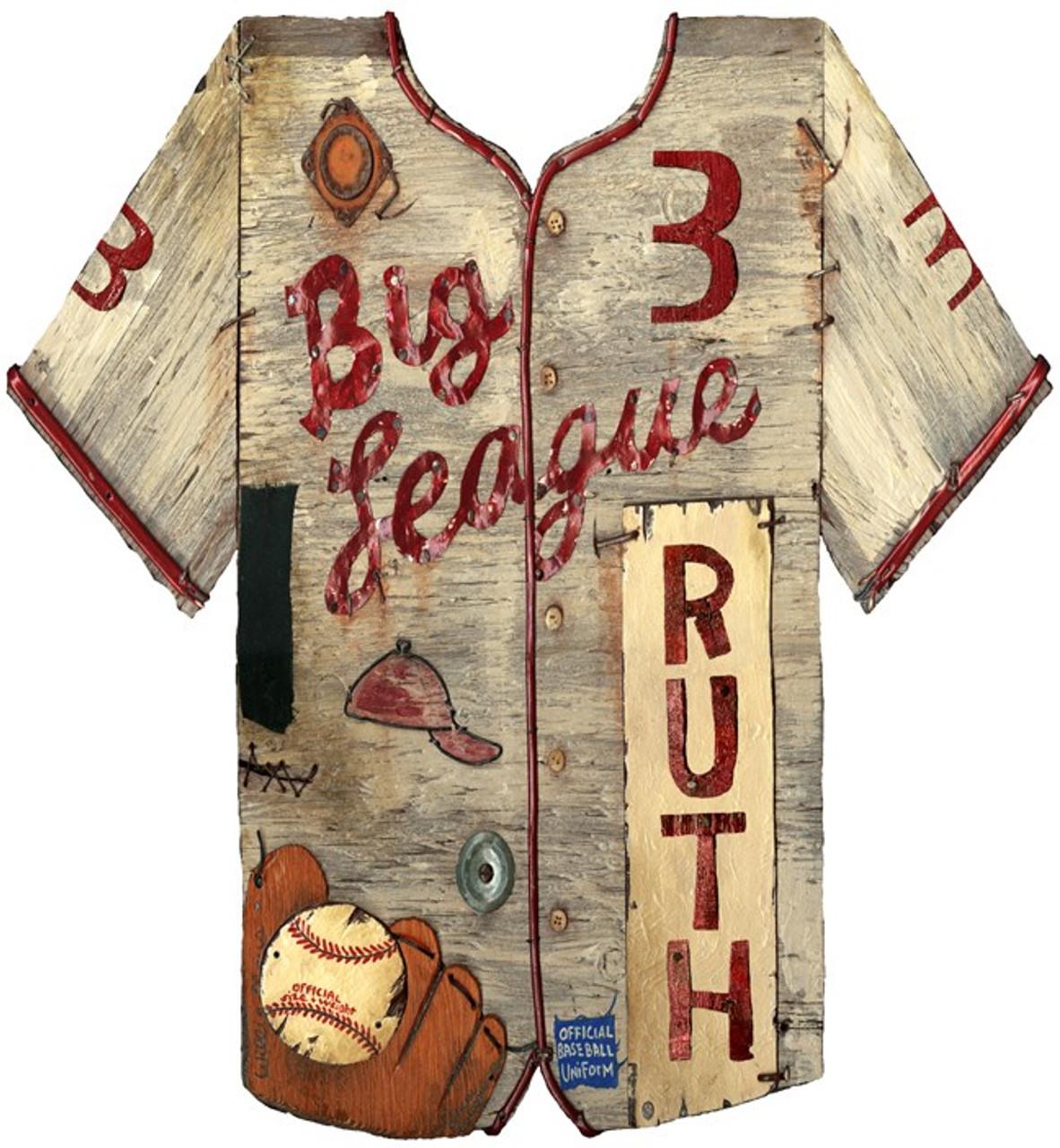 c74fffff707 Vintage Baseball Jersey Sign | Rustic Baseball Décor