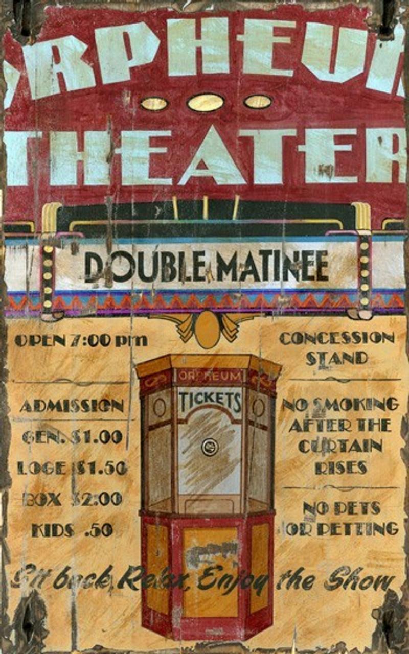 Vintage Movie Theater Decor Vintage Orpheum Movie Theater Sign