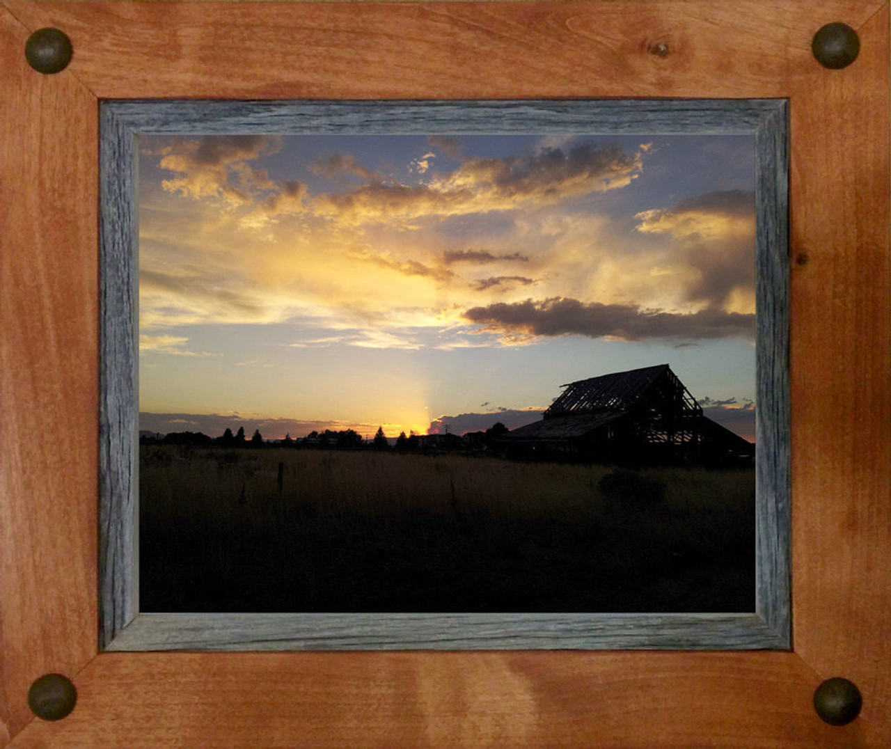 Western Frames 4x6 Wood Frame With Tacks Sagebrush Series