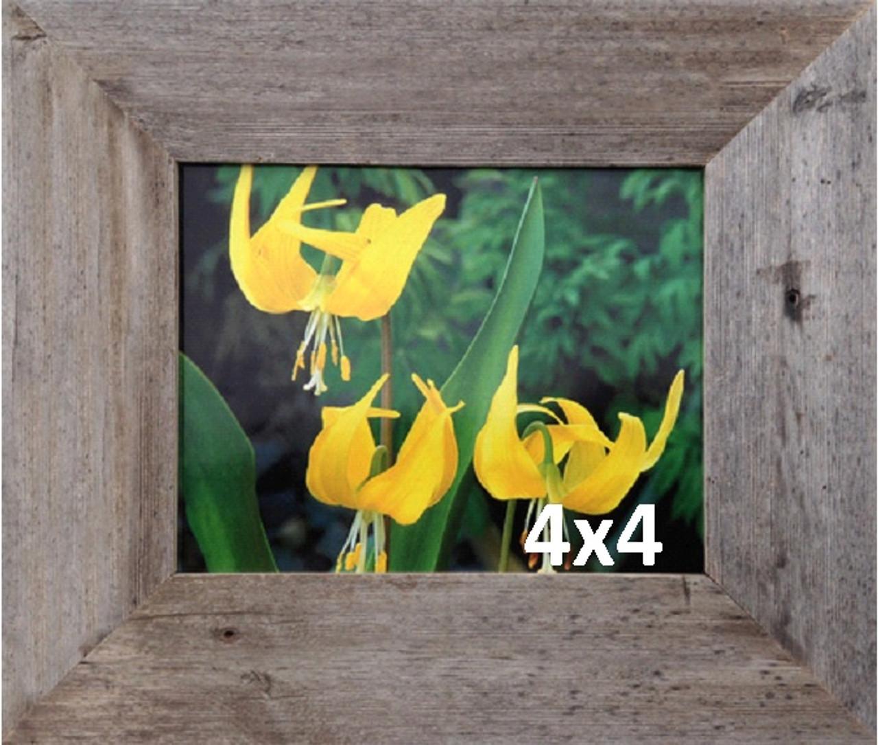 4x4 Barnwood Frames, Wide Width 3 inch Homestead Series