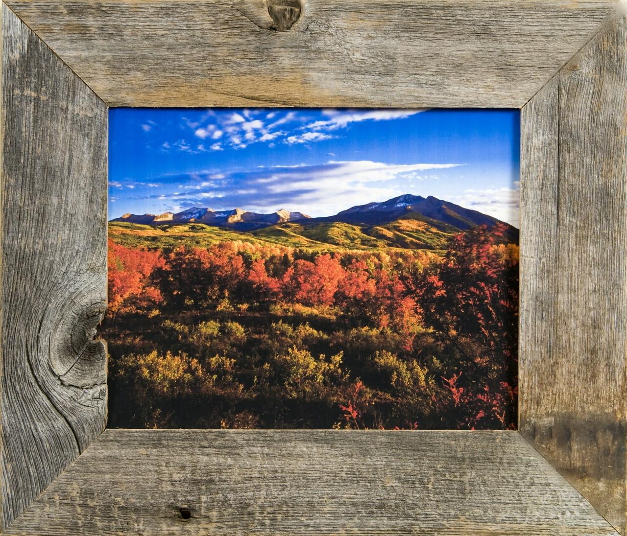 Western Frames Reclaimed Barnwood 20x30 Frame Rustic Wood