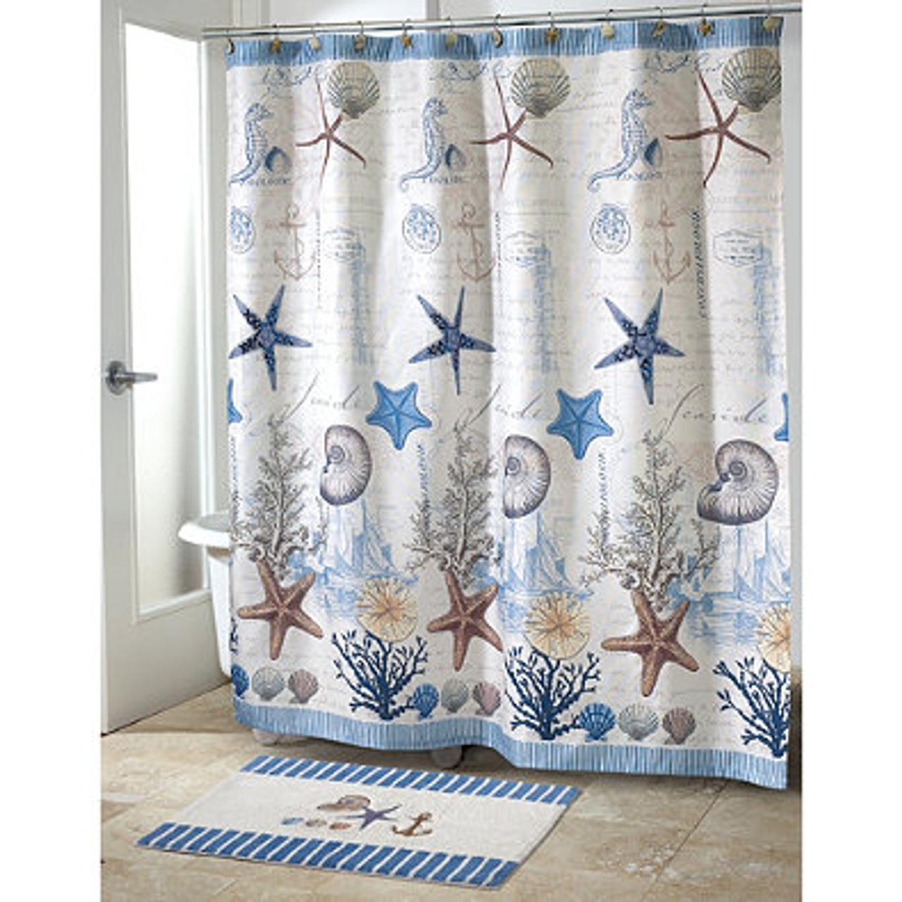 Antigua Beach Themed Shower Curtain