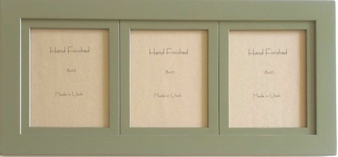 Sage Green Triple Frame 5x7 Openings Collage Frame