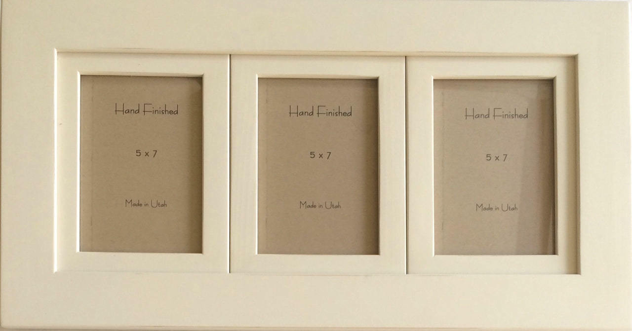 Ivory 3 Opening Collage Frame With 5x7 Openings